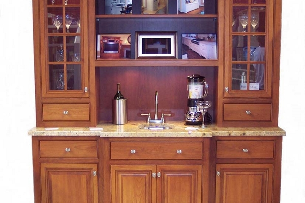 Natural Cherry Bar/Hutch