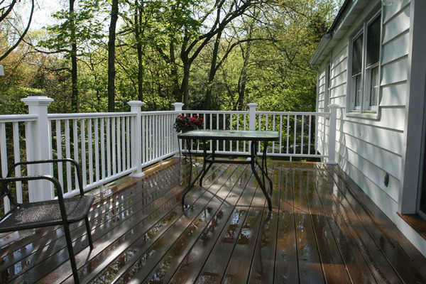 Pressure treated deck with composite decking & railing