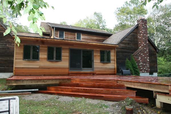 Pressure treated deck with Tigerwood Decking
