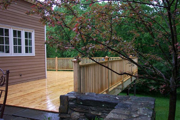 Pressure treated deck & railing