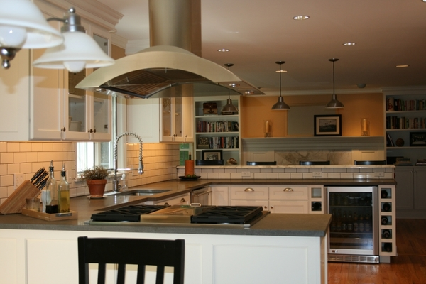 White Painted cabinets with overlay doors