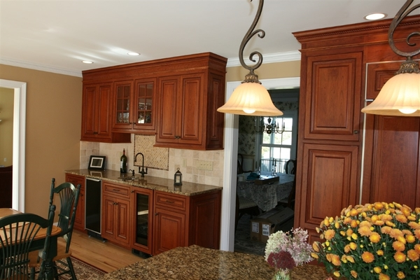 Stained Cherry Cabinets