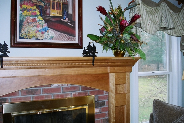 Natural Cherry Mantel